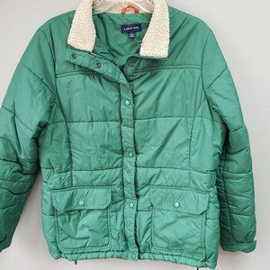 Womens Lands End Jacket Size 14-16 Green